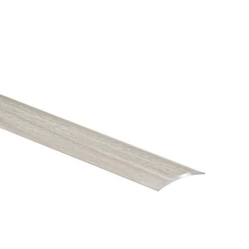 CEZAR W-AL-LPOSK-DW-090 Listón de protección/riel perfil de transición con laminado/decoración de madera de roble rural con tacos ancho autoadhesivo 40 mm, 40 x 900 mm