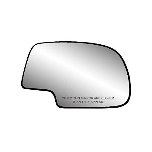 "Passenger Side Heated Mirror Glass w/ backing plate, Cadillac Escalade, Chevrolet Avalanche, Silverado, GMC Sierra, Silverado, Sierra Classic, Suburban, Tahoe, Yukon, 6 9/ 16"" x 10 1/ 8"" x 10 3/ 4"""