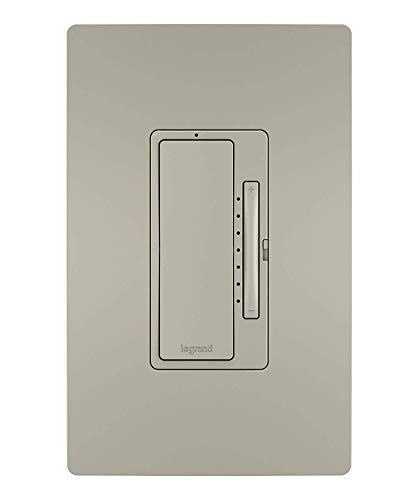 Legrand - Pass & Seymour Radiant WWRL50NICCV2 Tru-Universal Enabled Dimmer, Nickel Smart Wi-Fi Switch
