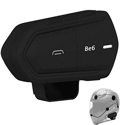 Helmet Wireless BT Headset, Geva Motorcycle Wireless BT Headset (1pc), FM Radio/Voice Dial/Automatic Answering/Incoming Phone Number Broadcast/HD Stereo Supports 2pcs Be6 Motorcycle Intercom