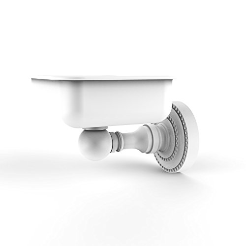 Allied Brass DT-32 Dottingham Collection Wall Mounted Soap Dish, Matte White