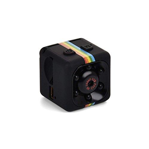 Lovearn Mini Camera SQ11 Camcorder HD 1080P Camcorder Sport Mini-DV-Videorecorder Spion-Kameras mit Nachtsicht und Bewegungserkennung Überwachungskamera (Black)