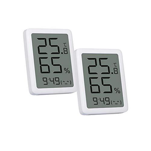 Homidy 2 Stück Thermometer Innen Hygrometer HD Großbildschirm Luftfeuchtigkeitsmesser Hohe Präzision Luftfeuchtigkeitsmesser Digital Temperatursensor