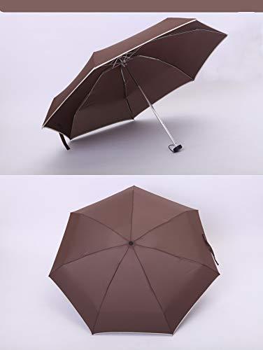 SHILILI Mini Paraguas De 5 Pliegues/Sol Y Lluvia/Paraguas Publicitario/Logotipo De Impresión/Iluminación
