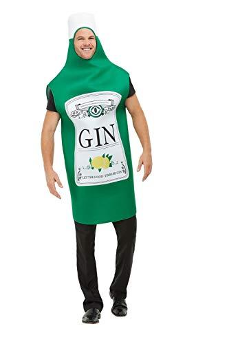 Smiffys 52165 Gin fles kostuum, mannen, groen, een maat