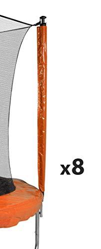 JUMP4FUN Universalzubehör für Trampolin, Schutzhülle für Sitzstangen, Anti-UV, Gartentrampolin, alle Größen, Kinder, Orange, Housse de Perches