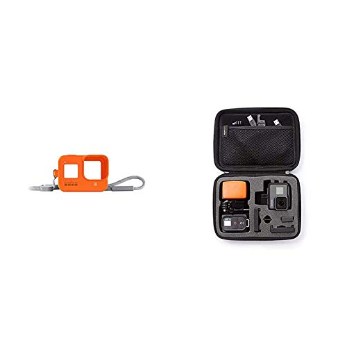 GoPro Sleeve Lanyard for Hero8 Black Hyper Orange Official Accessory AJSST 004 Amazon Basics GoPro Carrying Case Small