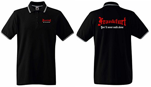 Frankfurt Herren Polo Shirt Ultras You`ll Never Walk Alone
