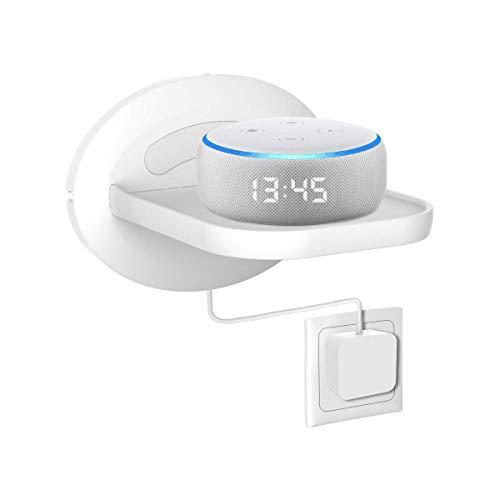 Cozycase Wandhalterung für Google Nest WiFi, Sonos, Google Home, Google Home Mini, Überwachungskamera Halterung Ständer, platzsparende Lösung für Alles bis zu 7 kg- weiß
