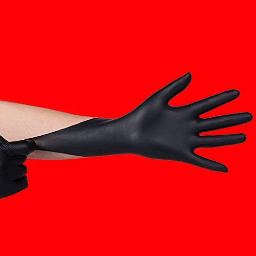 Industrial Work Gloves Powder-Free Non-Slip Strong Toughness Puncture Resistance Tattoos Gardening Factories , Tattoos Box/100 Black-M