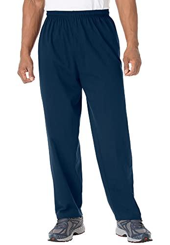 KingSize Men's Big & Tall Lightweight Jersey Sweatpants - Big - 3XL, Navy