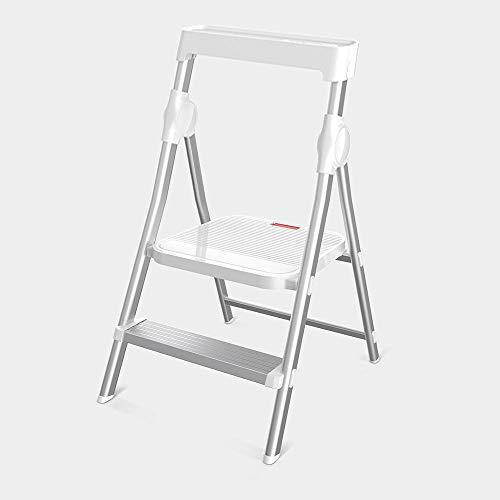 Meijin Decoración de aluminio sólido para el hogar multifunción plegable escalera de escalera para interiores escalera de dos pasos escalera