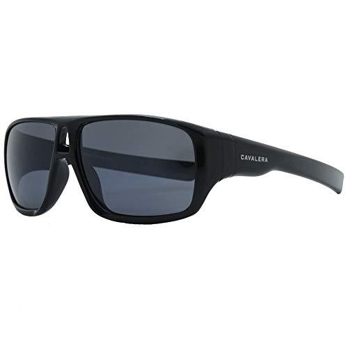 Óculos de sol, Hole, Cavalera, Retangular, Masculino, Preto Brilho, Único