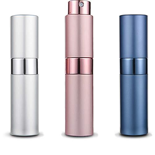 Lot de 3 atomiseurs de parfum rechargeables de 15 ml mini parfum de voyage atomiseur portable sac à main vaporisateur vide