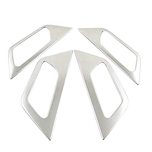 SHOUNAO 4pcs Manija De Puerta De Coche Marco De Manija Interior Pegatina Brillante Decoración Ajuste para Peugeot 3008 GT 5008 2017-2020 (Color : Silver)