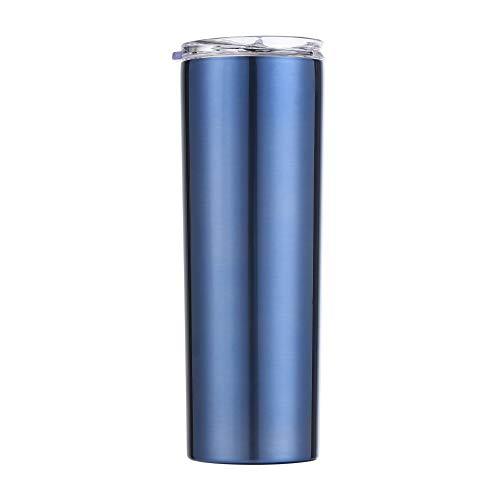 Xiaobing Taza para Beber Recta de Acero Inoxidable de 20 oz para Oficina de automóviles, Taza para Beber Recta de Negocios -B661-500ml-G774