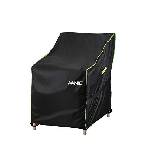 Awnic Gartenstühle Schutzhülle Stühle Stapelstühle Abdeckung Oxford Gewebe Wasserdicht Reißfest 420D Polyester 120x85x75/65cm