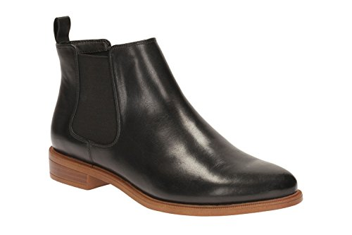 Clarks Taylor Shine, Damen Chelsea Boots, Schwarz (Black Leather), 40 EU (6.5 UK)
