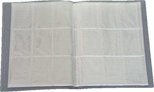 Leere Sammelmappe - 32 Seiten (576 Karten) - Ideal für Sammel Bilder/Karten - Farbe Neutral