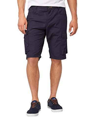 TOM TAILOR Herren Cargo Shorts, Blau (Knitted Navy 10690), W(Herstellergröße: 31)