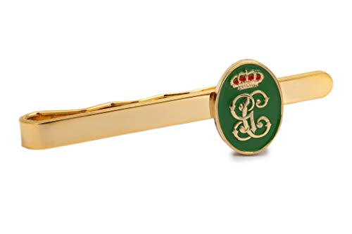 Gemelolandia Pasador de Corbata Escudo de la Guardia Civil Verde y Dorado 55mm   Pisa Corbatas Para usar en Bodas y en Eventos formales - Da un toque Elegante