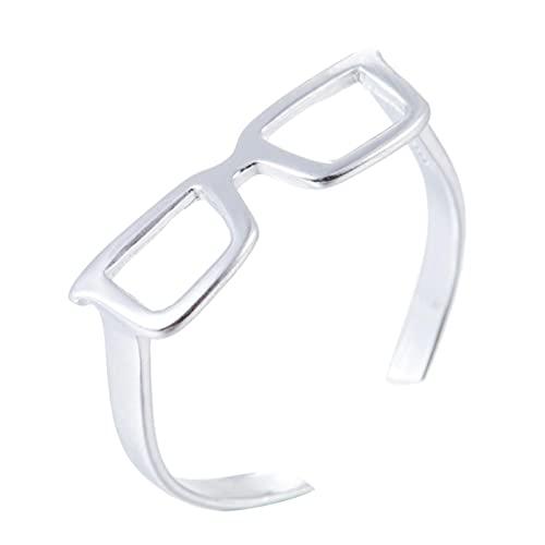 Anillos de joyería minimalista para mujer, ajustable, triangular, redondo, con latido del corazón, anillo de dedo-SYJZ022
