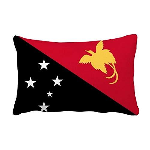 DIYthinker Papua-Neuguinea National Flagge Ozeanien Land Werfen Lumbar Kissen Kissenbezug Startseite Dekor-Geschenk 16 Zoll x 24 Zolls Mehrfarbig