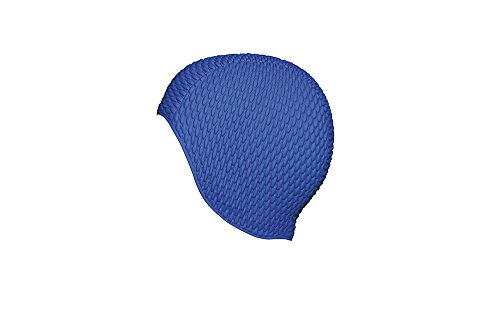 Fashy Damen Luftgefüllte Gummihaube Badehaube, Blau (Marine), One Size