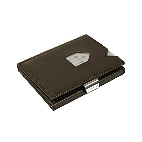 Exentri ™ Wallet Design Brieftasche für Kreditkarten EX002 Braun