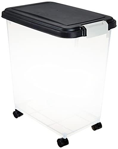 Price comparison product image IRIS USA,  Inc. 33 Quart Airtight Pet Food Container,  Gary,  Black (500088)