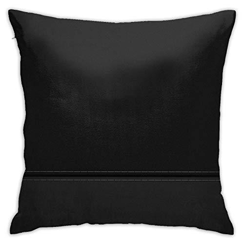 Perfect household goods Bw Minimalism Housse de coussin décorative en jean 45,7 x 778,3 cm Taie d'oreiller carrée pour maison, canapé, chambre à coucher, salon