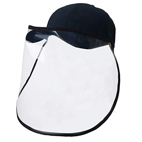 FEOYA Kappe mit Transparentem Schild 2-in-1 Baseball Cap Herren Damen Basecap Blau