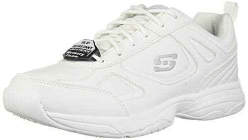 Skechers Men's 77111 Work Relaxed Fit: Dighton SR Shoe, White - 8.5 D US