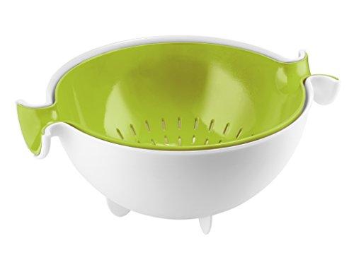 Guzzini Set Scolatutto con Contenitore Kitchen Active Design, Verde Mela, 30 x 25 x h12.5 cm