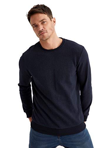 DeFacto - Felpa da uomo con vestibilità regolare Indaco XL