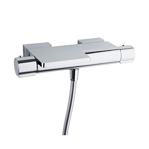 Columna fija termostato limitador temperatura termostop soleflex rociador ultraslim ABS /Ø300mm cooltouch anticorrosi/ón y Diamond finish Ramon Soler 43D304793 Dragan