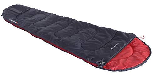 High Peak Action 250 Sleepingbag Unisex-Adult, Anthracite/Red, 225x80/50 cm