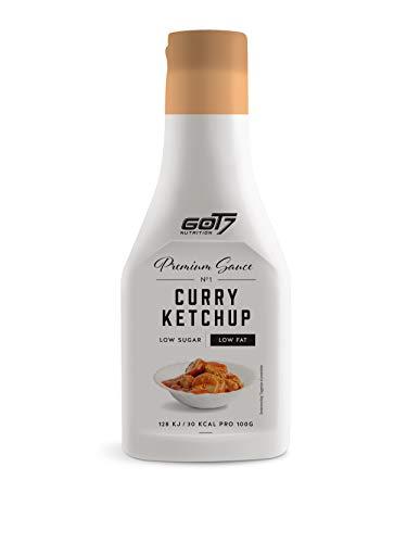 Got7 Premium Sauce - Kalorienfreie Grill, Burger und Würz Sauce - Perfekt zum Abnehmen (Curry Ketchup, 285 ml)
