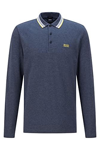 BOSS Plisy Camisa de Polo, Navy419, L para Hombre