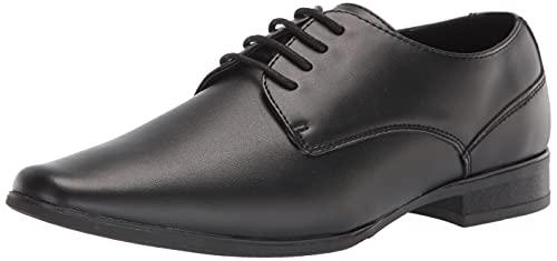Calvin Klein Men's Brodie Oxford, Black/Black/Soft Action Leather, 10.5