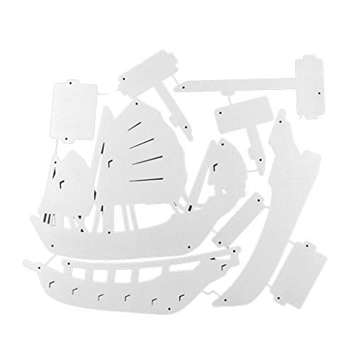 PINH-lang Stanzmaschine Stanzschablone, 3D Segelboot Metall Stanzformen Schablone Scrapbooking Papier Karte Craft Decor