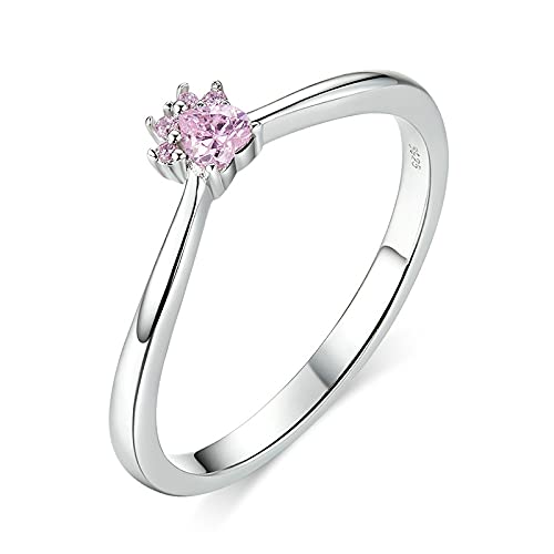 FGHNB Verlobungsring 925 Sterling Silber Ringe Schmuck Rosa Katzenpfote Fingerringe Für Frauen Mädchen Nette Accessoires Modeschmuck