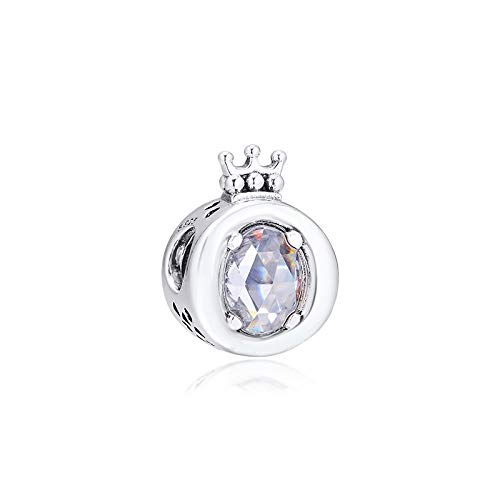 Sparkling Crown O Charms 925 Original Fit Pandora Bracelet Sterling Silver Charm Beads For Jewelry Making Jewellery