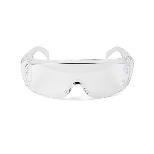 Tsosginaog Gafas Protectoras Antivaho Salpicaduras Antiproyección Arena De Polvo Gafas De Protección Laboral Transparentes Gafas Protectoras,Blanco