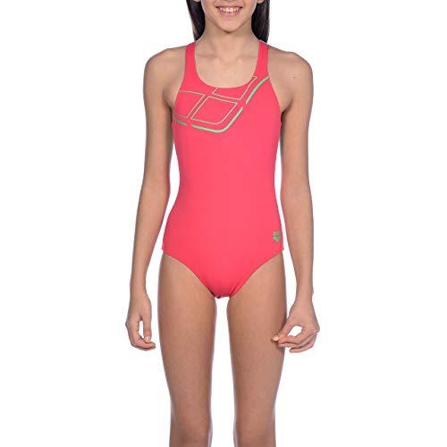 Arena Dziewczęcy Arena sportowy strój kąpielowy dla dziewczynek Essentials strój kąpielowy Freak Rose-Golf Green 28