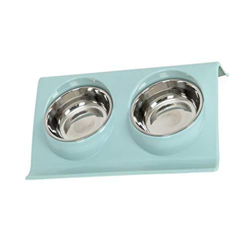 Balacoo Edelstahl Haustierzufuhr Doppel Katze Hundenäpfe z Form steil Nahrung Wasserschalen für Haustier nach Hause