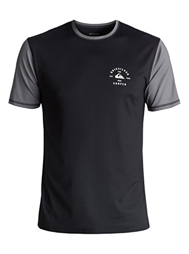 2018 Quiksilver Color Blocked Short Sleeve Surf Tee BLACK EQYWR03089 Sizes- - Small