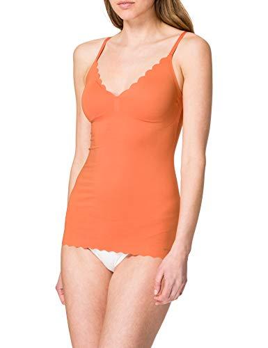 Skiny Damen Spaghettishirt herausnehmbare Pads Unterhemd, Burnt orange, 40