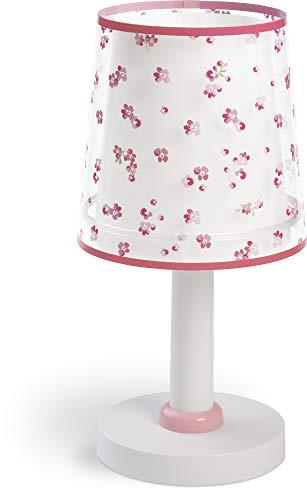 Dalber Kinder Tischlampe Nachttischlampe Blumen Rose, 81171S