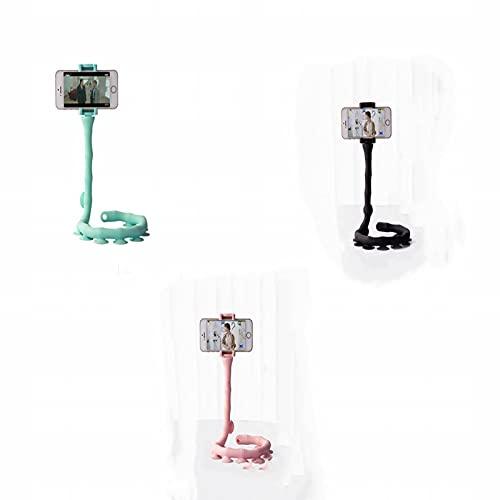 ANIPP Caterpillar Lazy Soporte creativo Lindo Bug Lazy Phone Holder Multifuncional Silicona Ventosa Soporte 360 grados Flexible Alta Densidad Caucho Succión (3 piezas)